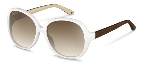 Claudia Schiffer by Rodenstock-Solbrille-C3006-white, brown