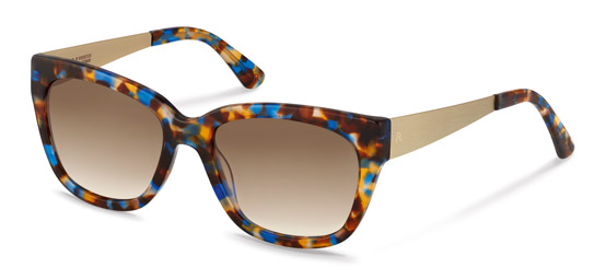 Claudia Schiffer by Rodenstock-Solglasögon-C3009-blue brown havana/light gold