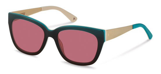 Claudia Schiffer by Rodenstock-Solglasögon-C3009-turquoise gradient/light gold