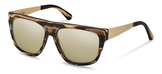 Claudia Schiffer by Rodenstock-Solglasögon-C3011-black/light gold