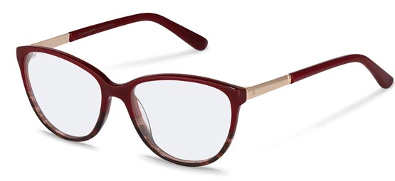 Claudia Schiffer by Rodenstock-Korrektionsglasögon-C4016-red structured, rose gold