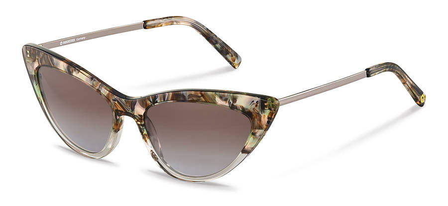Rodenstock Capsule Collection-Solbrille-RR336-greenrosestructured/darkgun