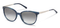 Rodenstock-Solbrille-R3297-dark blue structured, palladium