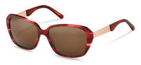 Rodenstock-Solbrille-R3299-red structured, rose gold