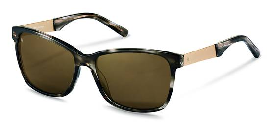 Rodenstock-Solbrille-R3302-dark grey structured, light gold