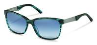 Rodenstock-Solbrille-R3302-blue structured, palladium