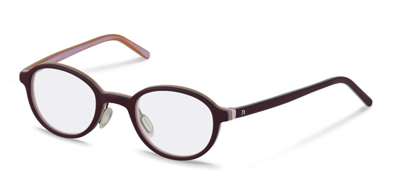 Rodenstock-Correction frame-R5299-dark red, rose layered