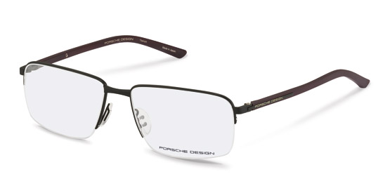Porsche Design-Correction frame-P8316-black, dark red transp.