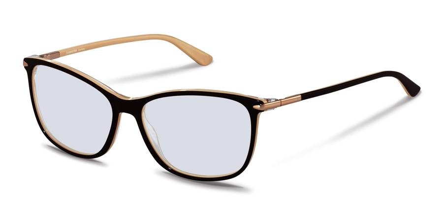 Rodenstock-Correction frame-R5335-brownbeigelayered/rosegold