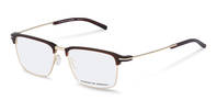 Porsche Design-Bingkai koreksi-P8380-lightgold/brown