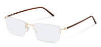 Rodenstock-Bingkai koreksi-R7074-gold/darkbrown