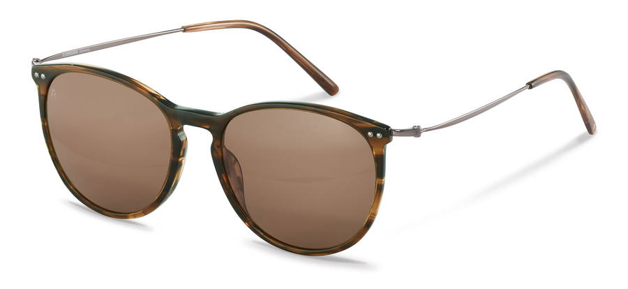Rodenstock-Solglasögon-R3312-brownstructured/gunmetal
